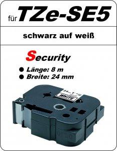 schwarz auf weiß - 100% TZe-S5 (24 mm) komp.