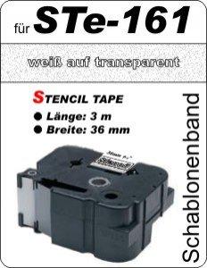 weiß auf transparent - 100% STe-161 (36 mm) komp.