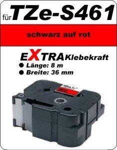schwarz auf rot - 100% TZe-S461 (36 mm) komp.