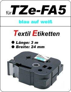 blau auf weiß - 100% TZe-FA5 (24 mm) komp.