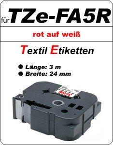 rot auf weiß - 100% TZe-FA5R (24 mm) komp.