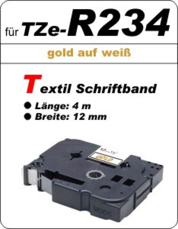 gold auf weiß - 100% TZe-R234 (12 mm) komp.