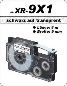 schwarz auf transparent - (9 mm)