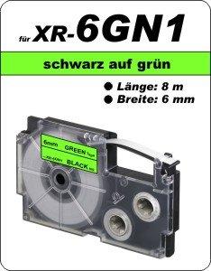 schwarz auf grün - (6 mm)