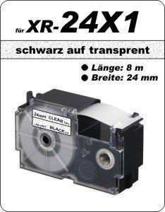 schwarz auf transparent - (24 mm)