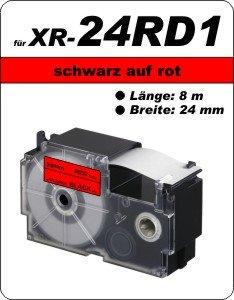schwarz auf rot - (24 mm)