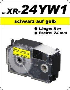 schwarz auf gelb - (24 mm)