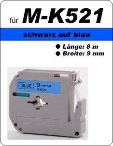 schwarz auf blau - 100% M-K521(9 mm) komp.