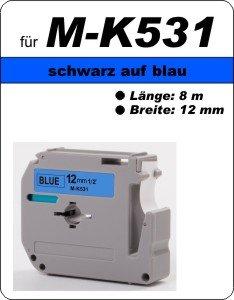 schwarz auf blau - 100% M-K531 (12 mm) komp.