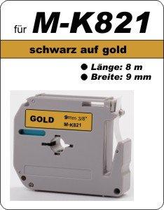 schwarz auf gold - 100% M-K821(9 mm) komp.