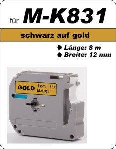 schwarz auf gold - 100% M-K831 (12 mm) komp.