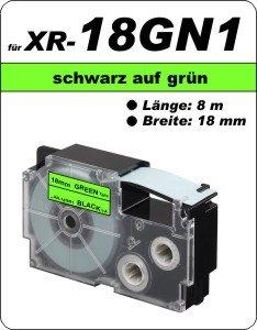 schwarz auf grün - (18 mm)