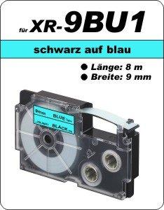 schwarz auf blau - (9 mm)