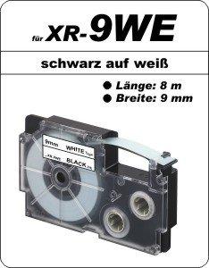 schwarz auf weiß - (9 mm)