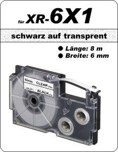 schwarz auf transparent - (6 mm)