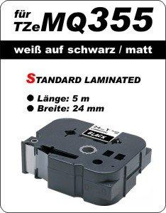 weiß auf schwarz (matt) - 100% TZeMQ355 (24 mm) komp.