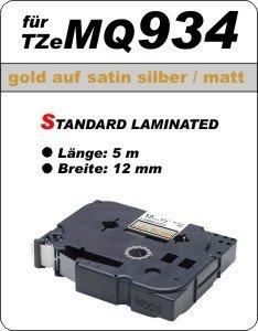 gold auf satin silber (matt) - 100% TZeMQ934 (12 mm) komp.