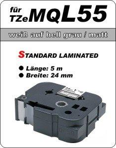 weiß auf hell grau (matt) - 100% TZeMQ-L55 (24 mm) komp.