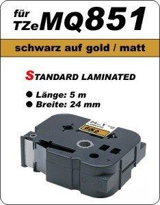 schwarz auf gold (matt) - 100% TZeMQ851 (24 mm) komp.