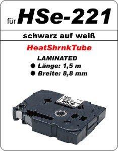 schwarz auf weiß - 100% HSe-221 (8,8 mm) komp.