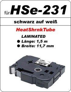 schwarz auf weiß - 100% HSe-231 (11,7 mm) komp.