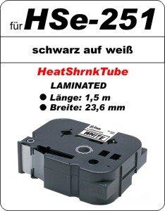 schwarz auf weiß - 100% HSe-251 (23,6 mm) komp.