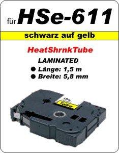 schwarz auf gelb - 100% HSe-611 (5,8 mm) komp.