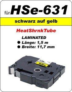 schwarz auf gelb - 100% HSe-631 (11,7 mm) komp.