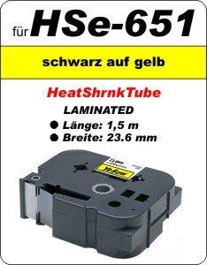 schwarz auf gelb - 100% HSe-651 (23,6 mm) komp.