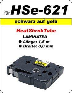 schwarz auf gelb - 100% HSe-621 (8,8 mm) komp.