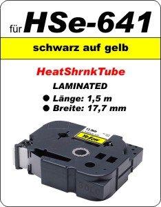 schwarz auf gelb - 100% HSe-641 (17,7 mm) komp.