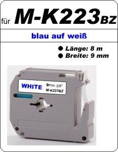 blau auf weiß - 100% M-K 223 BZ (9 mm) komp.