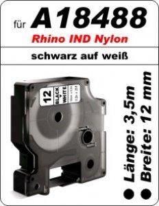 schwarz auf weiß - (12mm) 100% IND A18488 komp.
