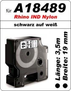 schwarz auf weiß - (12mm) 100% IND A18489 komp.