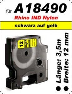schwarz auf gelb - (12mm) 100% IND A18490 komp.