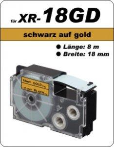 schwarz auf gold - ( 18 mm)