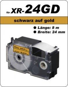 schwarz auf gold - ( 24 mm)