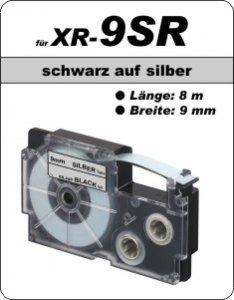 schwarz auf silber - ( 9 mm)
