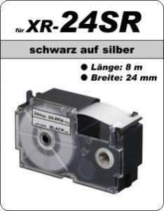 schwarz auf silber - ( 24 mm)