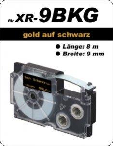gold auf schwarz - ( 9 mm)
