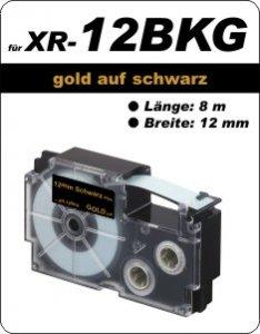 gold auf schwarz - ( 12 mm)