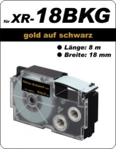 gold auf schwarz- ( 18 mm)