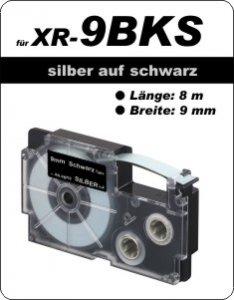 silber auf schwarz - ( 9 mm)