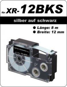 silber auf schwarz - ( 12 mm)
