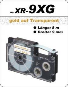 gold auf transparent - ( 9 mm)