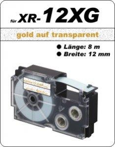 gold auf transparent - ( 12 mm)