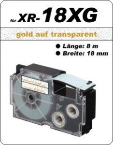 gold auf transparent - ( 18 mm)