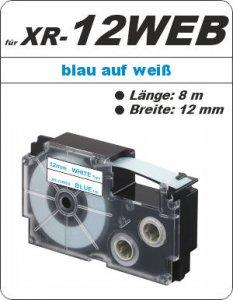 blau auf weiß - ( 12mm)