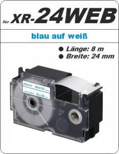 blau auf weiß - ( 24mm)