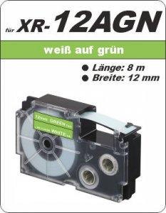weiß auf grün - ( 12 mm)